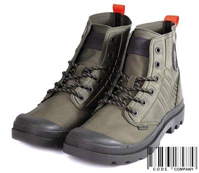 =CodE= PALLADIUM PAMPA AMPHIBIAN 針織尼龍潛水布皮革軍靴(軍綠) 75988-335 男