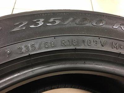 【優質輪胎】倍耐力VERDE_235/60/18_單條八成新_歐洲製(胎紋約5.7mm_235-60-18)三重區