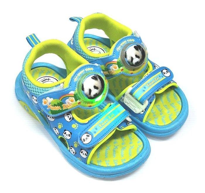 【菲瑪】圓仔 電燈涼鞋 藍綠PDKS46706  出清