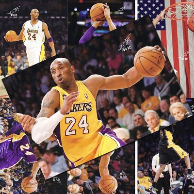 NBA籃球明星科比海報寫真照片墻紙周邊同款明信片貼紙宿舍壁紙