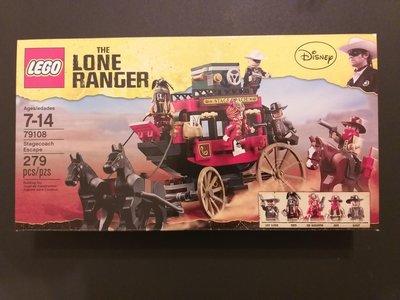 全新未開 Lego 79108 Lone Ranger Stagecoach Escspe
