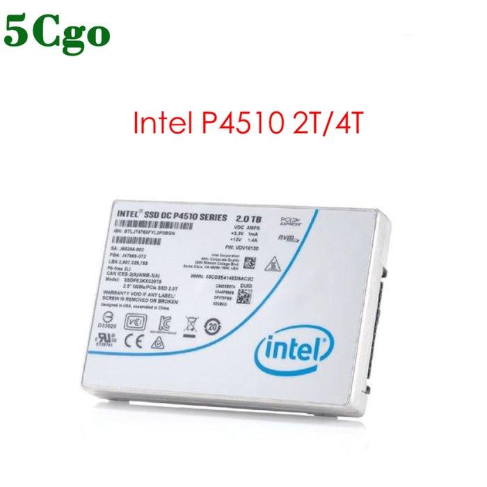 5Cgo【含稅】Intel DC P4510 2T 2TB 4T 6.4T NVMe SSD固態硬碟PCIe U.2
