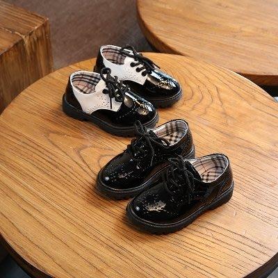 春季新款兒童鞋男童黑色皮鞋中小大童學生寶寶表演單鞋休閒鞋