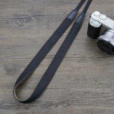 相機背帶Sozor相機肩帶可愛微單減壓背帶復古文藝純棉牛仔織帶卡片機掛繩