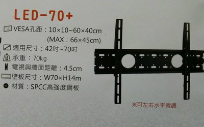 """《鉦泰生活館》NB ITW-S3 液晶電視螢幕壁掛架,適用42-70"""""""