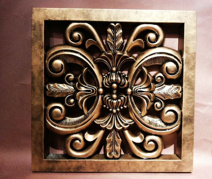 單面浮雕 PU門片/仿傳統木雕藝術/藝術裝飾件/窗花/西式裝飾壁飾 鏤空 雕花 掛飾  雕刻 古銅色@$2500