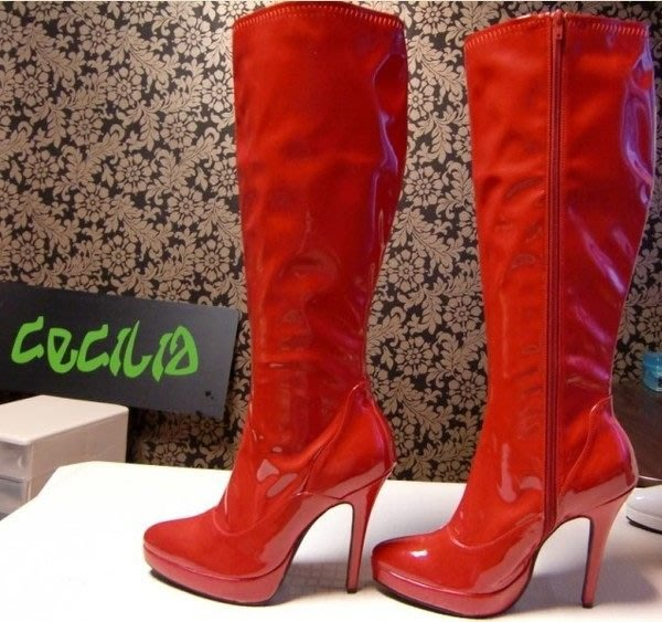 """團體表演鞋 造型鞋 舞臺鞋 中筒靴""""西西莉亞"""" 最新款  可定做不同顏色 貨號:66066"""