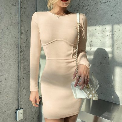 Meili時尚館Street fashion trend leisure long sleeve figure-hugging hip
