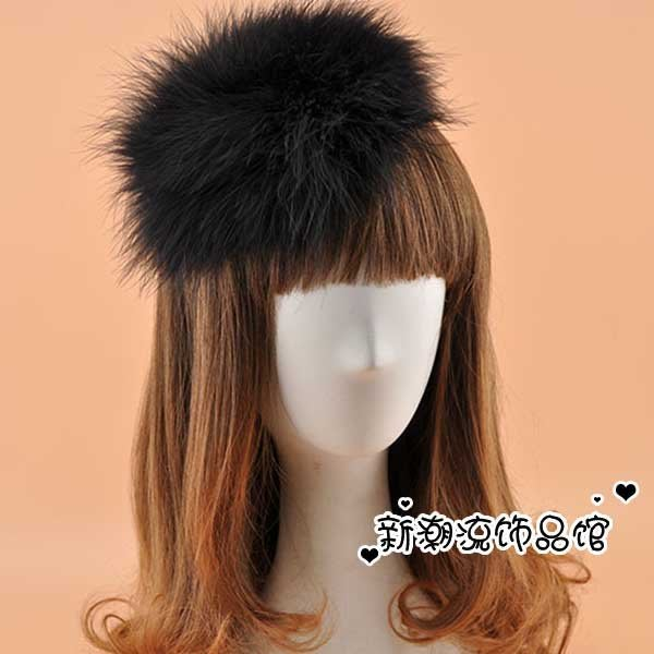 5Cgo【鴿樓】會員有優惠  35272267287 韓國新娘白色羽毛頭飾超大誇張毛毛絨髪箍頭箍髪卡派對演出飾品