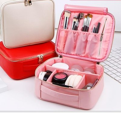 【蘑菇小隊】化妝包大容量多功能簡約便攜小號韓國軟妹可愛少女心化妝品收納包-MG17744