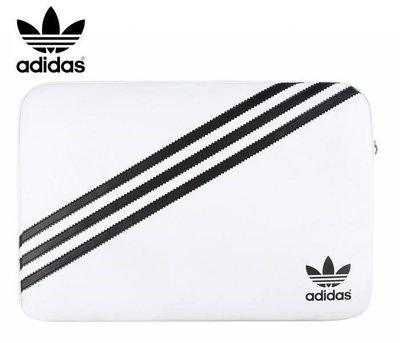 15吋 以下通用 adidas 愛迪達 白底黑線 經典 斜紋 三葉草 電腦包 筆電 保護套 正版 正品 公司貨 運