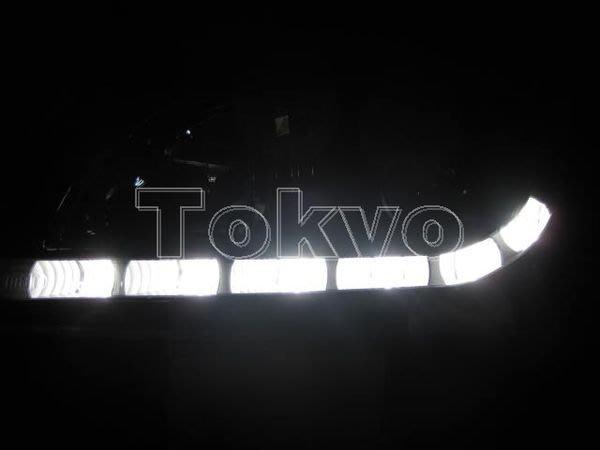 @Tokyo東京車燈部品@ 富豪 S60/V70 02~04 晝行燈 日行燈 DRL燈眉魚眼黑底大燈一組16500