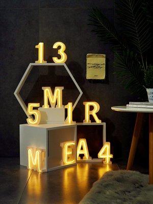 歐斯特館~led霓虹燈髮光字裝飾ins網紅店創意背景墻酒吧民宿英文數字字母燈