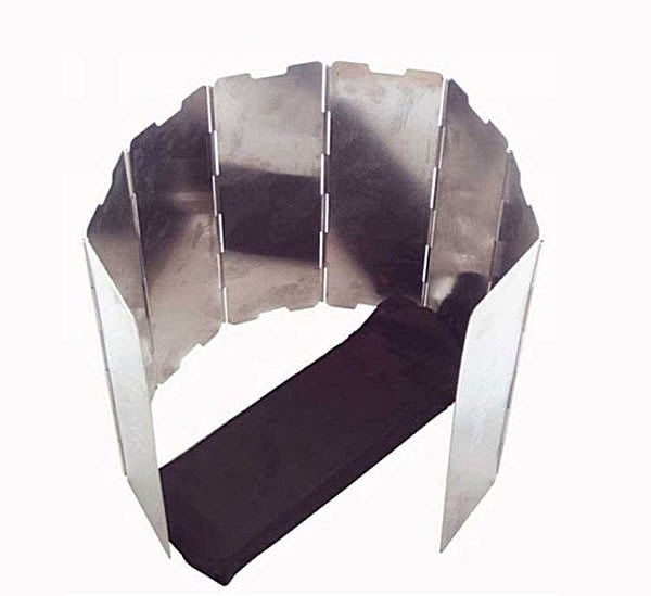 全新 屏風式 鋁合金折疊 8片式擋風板 戶外 防風聚熱 汽化爐