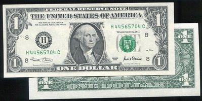 United States(美國紙幣), P509 ,1-Dollars ,2001,品相全新UNC 國際#19051050