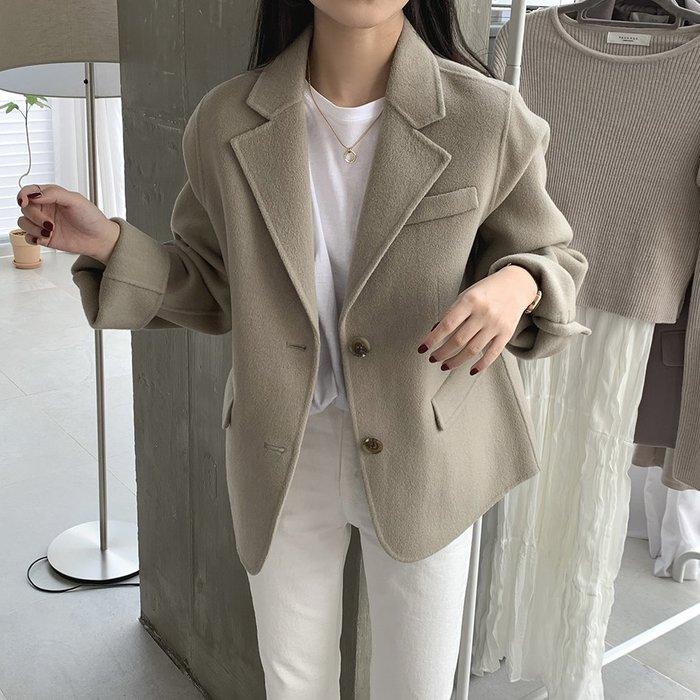 Maisobo 韓 秋冬 質感~毛呢西裝外套 3色 W-2 預購