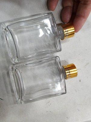 浮油花//乾花瓶//50ml 無铅迷你小酒瓶 密封酒瓶 藥酒瓶 方扁形