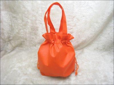 不織布束口袋(27*24)-BAG-031 素面無印刷(橘色*100只)