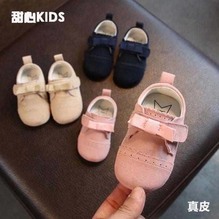 2019秋季6-12月嬰兒軟底學步鞋1周歲女寶寶韓版小公主皮鞋真皮潮