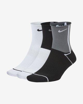 [飛董] NIKE EVERYDAY PLUS 運動 短襪 CK6021 904 黑白 三雙一組
