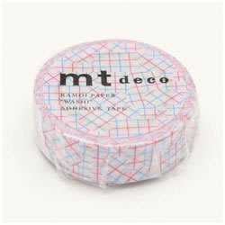 《散步生活雜貨-和紙膠帶》日本製 mt  deco 15mm 單捲 紙膠帶 - MT01D347