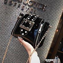 〖全館免運〗珍珠包超火包新款韓版珍珠漆皮水桶包錬 【安可居】