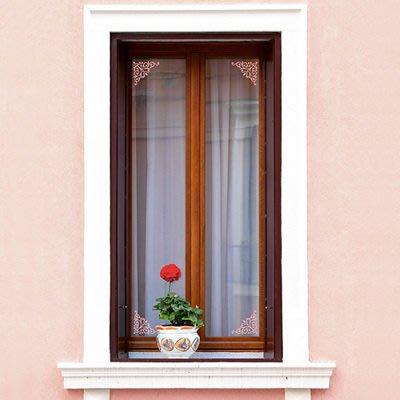 小妮子的家@小角花邊二壁貼/牆貼/玻璃貼/瓷磚貼/汽車貼/傢俱貼