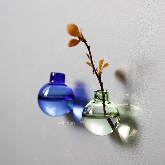 磁性小花瓶 插花冰箱貼 插花創意強力磁鐵磁貼 吸鐵居裝飾品留言貼(A)_☆找好物FINDGOODS ☆