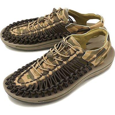 =CodE= KEEN UNEEK SLICE FADE SANDALS 編織彈性綁繩涼鞋(迷彩綠)1018675 拖鞋