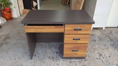 香榭二手家具*全新精品 3.5尺三抽 工業風雙色電腦書桌-電腦桌-辦公桌-寫字桌-工作桌-兒童桌-學習桌-事務桌-木桌