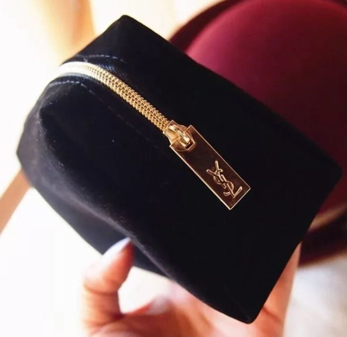【福報來了】特恵YSL黑絲絨多用包 化妝包 首飾包 高質量丶最便宜 收納 禮品 請注意正貸拉鏈頭應為雙面實心logo