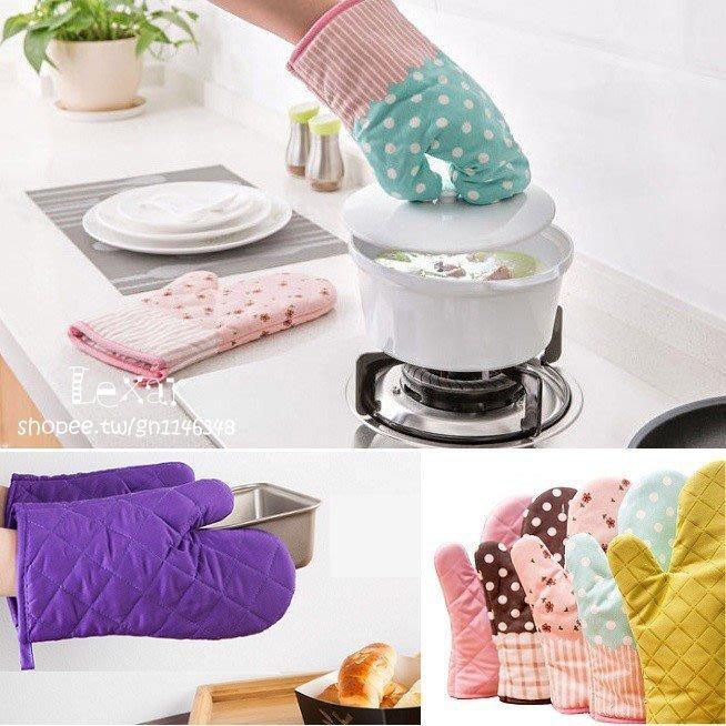 防燙加厚款微波烤箱隔熱手套單入廚房用品加厚印花手套