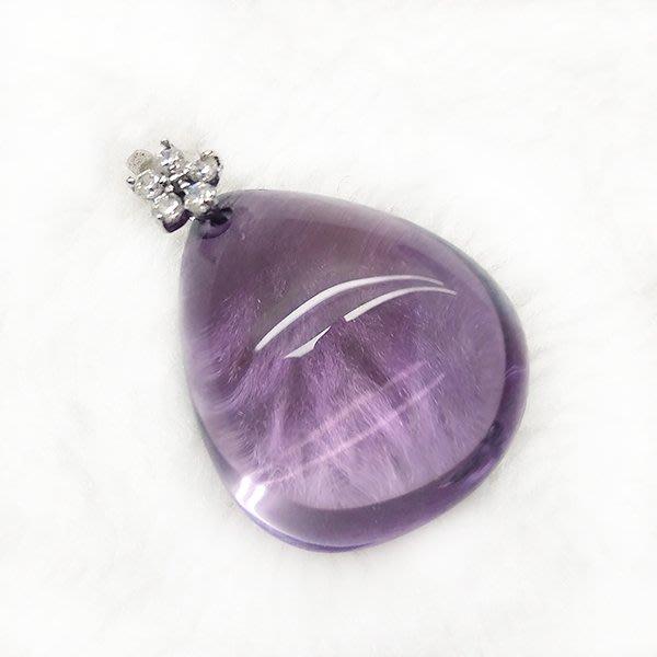 ☆采鑫天然寶石☆** 小葡萄** 頂級天然紫水晶墜~ 小巧水滴款~淨透晶亮