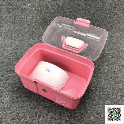 美甲工具箱子塑料手提式大號多層化妝品收納箱化妝箱多功能收納盒