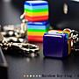 <T.POWER 桃園> ☞彩虹商品系列 彩虹方塊KEY環鑰匙圈- 淺藍 遊行必備 六彩象徵 同志大遊行 婚姻平權 鑰匙