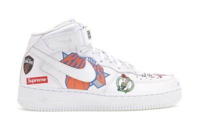 「Rush Kingdom」代購 Supreme Air Force 1 Mid Supreme NBA 白色