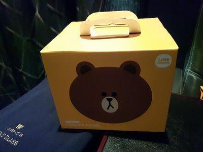 LINE FRIENDS  熊大  BROWN 威秀影城  限量限定版 爆米花桶