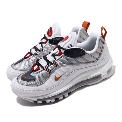 =CodE= NIKE W AIR MAX 98 PRM 3M反光氣墊慢跑鞋(白銀橘) CQ3990-100 復古 女