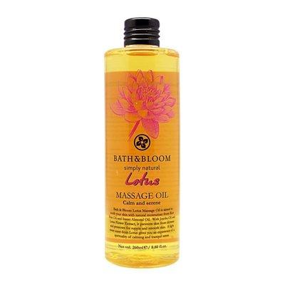 限時特價69折~【Bath & Bloom】 花植粹系列 (臉部及身體按摩油)-蓮花 260ml
