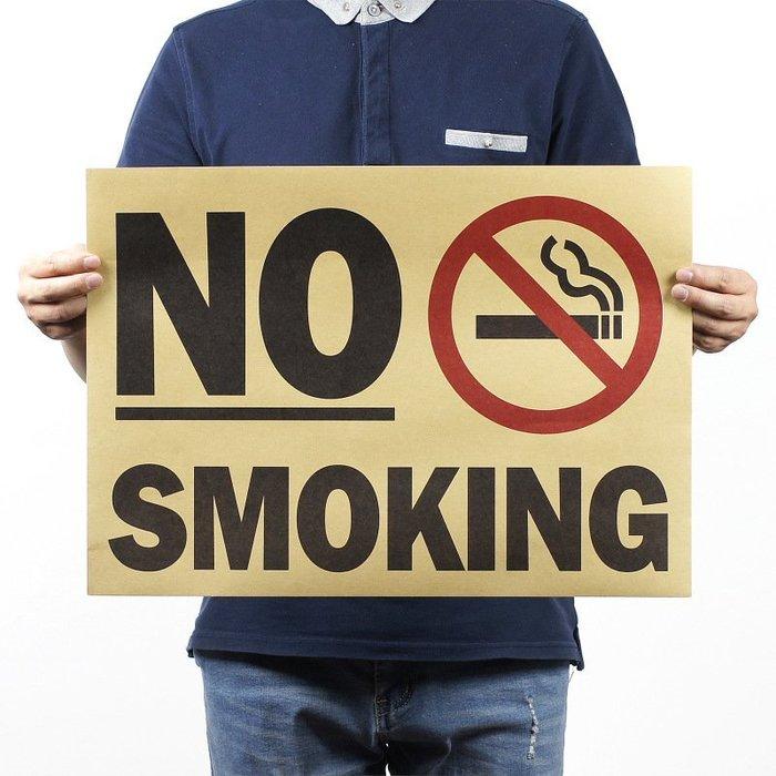 【貼貼屋】請勿吸煙 NO SMOKING 牛皮紙 海報 壁貼 電影海報 懷舊復古 經典 429