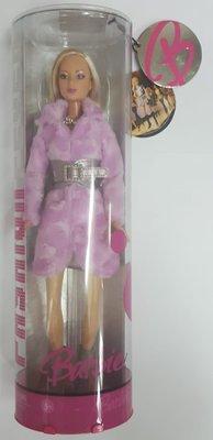 Barbie芭比-著皮草芭比公仔-Mattel出品.