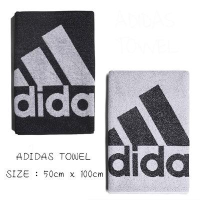 ADIDAS TOWEL  運動毛巾 吸水柔軟 毛巾 DH2860 DH2862 黑 白 21SS【樂買網】