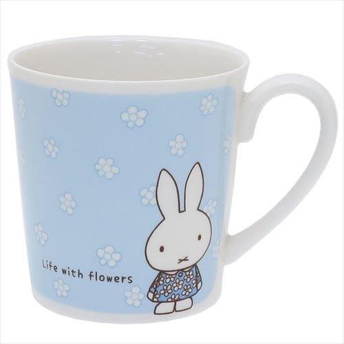 《散步生活雜貨-廚房散步》日本進口 金正陶器 MIFFY 米飛兔 小花 藍色 馬克杯 - 279131