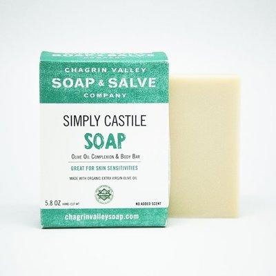 美國Chagrin Valley 有機冷壓初榨橄欖敏感肌植物皂 Simply Castile 手工皂 5.8 OZ
