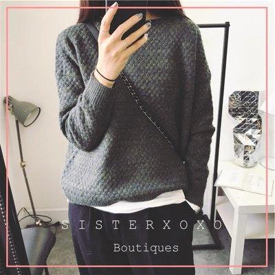 Sis KOREA style 韓國單 簡約質感 編織系列 超柔軟復古風 麻花設計針織衫 低調氣質歐美風毛衣