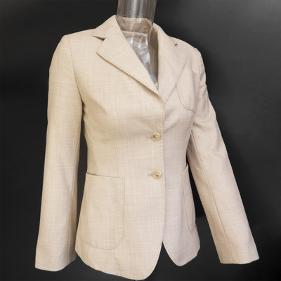 美國品牌Banana Republic香蕉共和國杏色羊毛長袖西裝外套