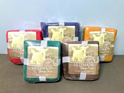 快速出貨 保暖 Ultimate Sherpa Throw 法蘭絨羊毛毯 羊羔絨 羊毛被 棉被 200 x 150cm