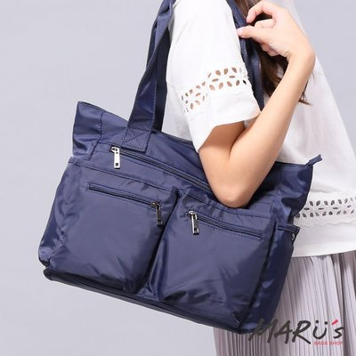 MARU`S BAGS SHOP 雙口袋側背手提肩背包 [TG-160]  抽繩 小水桶 agnes 雜誌 sanuk