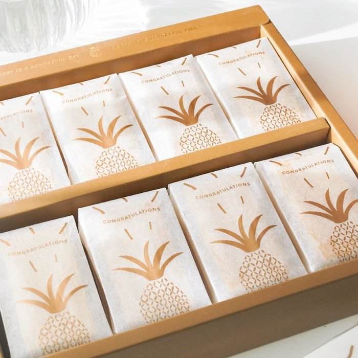 【berry_lin107營業中】50只加厚 金色鳳梨酥棉紙包裝袋 鳳梨酥袋包裝袋 機封袋烘焙包裝