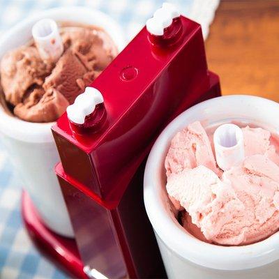 美國家用霜淇淋機全自動單雙筒水果冰激淩機小型兒童迷你雪糕機器-名品館